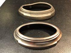 Original and recreated Safe-t-Stat gauge bezel for antique car restoration Car Restoration, Antique Cars, Rings For Men, The Originals, Antiques, Vintage Cars, Antiquities, Men Rings, Antique