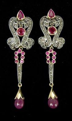 Antique Victorian Look 2 Rose Cut Diamond Gemstone Wedding Dangle Earring 925 Silver Earrings, Antique Earrings, Sterling Silver Pendants, Diamond Gemstone, Rose Cut Diamond, Art Deco Earrings, Colored Diamonds, Gemstones, Victorian