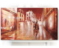 Oil painting on canvas Montmartre modern by OilPaintingsRaen