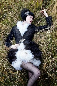 Flapper goth #photography #fashion #womens #woman #1920s #20s