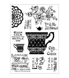 Darcie's Clear Stamp Set-Cup Of Tea, , hi-res
