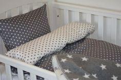 Grå stjerner BABY sengetøj