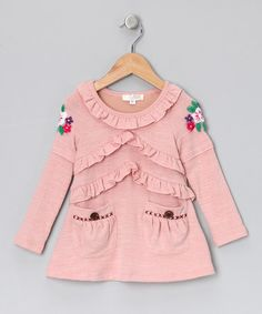 Dusty Rose Ruffle Tunic - Toddler & Girls by Baby Sara