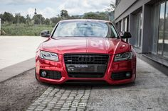 AUDI A5 With Red Chrome Wrap and Rotiform Custom Rims