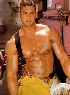 Fireman. Heros in uniform. Men. Fire.
