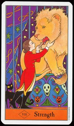The Halloween Tarot Deck (Major Arcana) Tarot Cards Major Arcana, Strength Tarot, Fortune Telling Cards, Tarot Learning, Tarot Card Decks, Tarot Readers, Oracle Cards, Deck Of Cards, Beautiful
