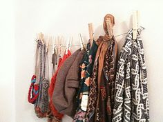 great way to display scarves and necklaces.