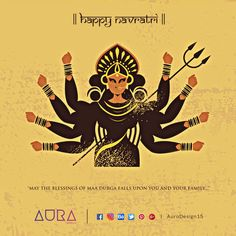 Happy Navratri to You and Your Family! Navratri Wishes, Happy Navratri, Rangoli Designs Flower, Navratri Festival, Om Namah Shivay, Bedroom Cupboard Designs, Happy May, Durga Maa, Chapati