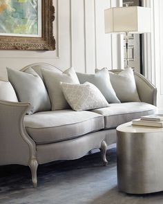Shop designer sofas and sectionals at Horchow. Go for a sleek look with these tuffed sofas and soft couches. Sofa Furniture, Luxury Furniture, Living Room Furniture, Living Room Decor, Furniture Design, Living Rooms, French Furniture, Living Area, Contemporary Coffee Table