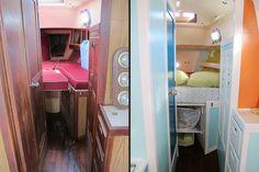 catamaran sailboats for sale Sailboat Living, Living On A Boat, Sailboat Interior, Yacht Interior, Sailboat Plans, Sailboats For Sale, Boat Projects, Diy Projects, Boat Decor