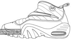 Download or print this amazing coloring page: Jordan Shoe
