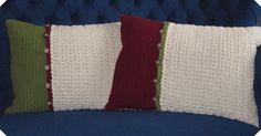 Sweater Back Crochet Pillows by Blue.Ridge.Girl, via Flickr