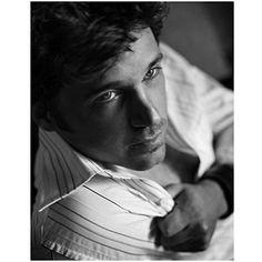 Patrick Dempsey 8 X 10 Patrick Dempsey Black & White Camera Looking Down White Striped Shirt... found on Endorfyn.