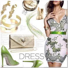 Beaded Sequined Dress by jecakns on Polyvore featuring René Caovilla, Burberry, Chanel and Grace