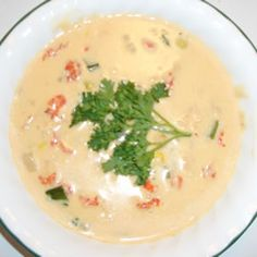 crawfish chowder --- my hubby made this the other night, SO delish!