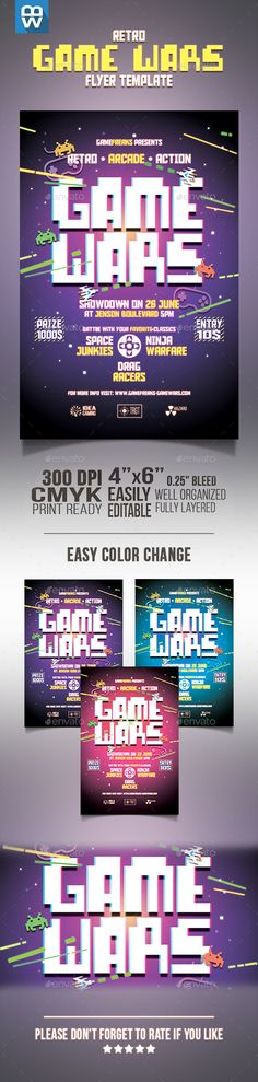 Retro Video Game Overnight Event Gaming Flyer Retro video games - retro flyer templates