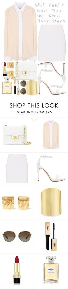 """""""Golden Work"""" by anotherfashionfatale ❤ liked on Polyvore featuring Chanel, Victoria Beckham, Helmut Lang, Zara, Cornelia Webb, Lydell NYC, Tiffany & Co. and Dolce&Gabbana"""