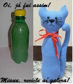 Gatoso peso para porta feito de pet. Mais Cat Crafts, Sewing Crafts, Diy And Crafts, Sewing Projects, Projects To Try, Arts And Crafts, Diy For Kids, Crafts For Kids, Accessoires Divers