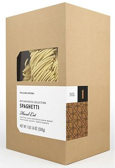 Williams Sonoma Artisan Pasta packaging