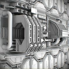 Sci-Fi Wall Panel Kit 3D model available to download in these formats: obj fbx 3ds dae lxo lwo max  A collection of 8 high definition sci-fi panels for ...