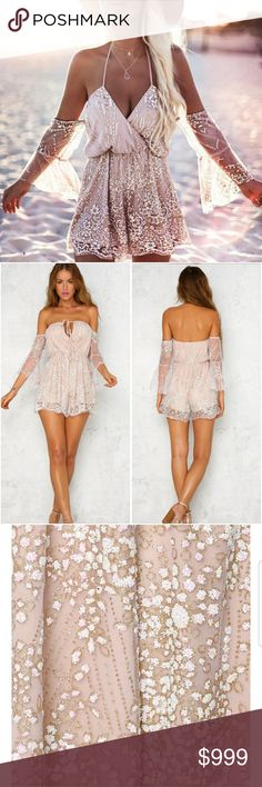 •Coming Soon• NEW SUMMER ARRIVALS  Gorgeous Sequins Romper in Light Pink Sizes S M L Pre SALE Price $30  *LIKE This Post To Be Notified Upon Arrival* MK Boutique  Dresses