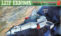 Box art for Leif Ericsson kit, based on a Star Trek concept, and source of the I.N.S.S. MacArthur in Niven and Pournelle's THE MOTE IN GOD'S EYE.