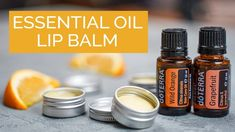Try making this DIY lip balm to provide a soothing, protective layer on the lips and seal in moisture. Doterra Essential Oils, Essential Oil Blends, Doterra Grapefruit, Diy Lip Balm, Lip Oil, Hand Cream, The Balm, Moisturizer, Conditioner