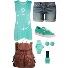 """Anchor Summer"" by nachognat on Polyvore"