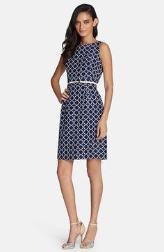Tahari Belted Jacquard Sheath Dress (Regular & Petite) available at #Nordstrom