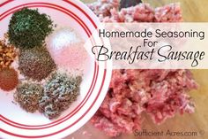 Homemade Seasoning For Breakfast Sausage