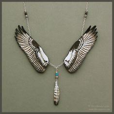 Osprey Wings - Leather Necklace by windfalcon.deviantart.com on @deviantART
