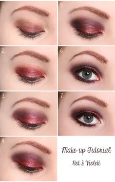 make-up tutorial: rot & violett