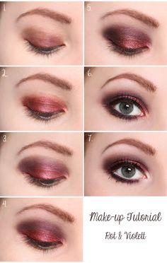 make-up tutorial: rot & violett
