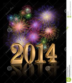 Imagenes Del Ano Nuevo 2014 | ... Del Año Nuevo 2014 Imagen de archivo libre de regalías - Imagen