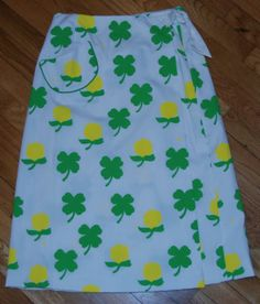 Vintage Vested Gentress St Patrick's Patty's Day Wrap Skirt Just in Time | eBay