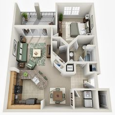 Departamento pequeño un dormitorio                                                                                                                                                                                 Más