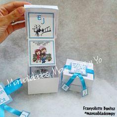 Caja tipo acordeon para invitaciones de boda ♥♥ #manualidadesmpy
