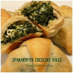Spanakopita Crescent Rolls anyone?So simple to make, so good! Spanakopita Crescent Rolls Recipe Print Recipe Ingredients 10 oz. frozen chopped Spinach (defrosted and *drain all excess liquid from spinach) 4 oz. Crumbled Feta 3 Green Onions Chopped 1 Large Clove of Garlic, minced 1 Tablespoon Extra Virgin Olive Oil 1/2 teaspoon Dry Dill Weed 1...Read More