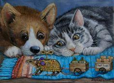 """Trojan Mouse"" - Original Fine Art for Sale - © Joy Campbell"