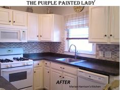 The Purple Painted Lady shares the best tips to painting your own cabinets using Chalk Paint® decorative paint by Annie Sloan