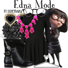"""""""Edna Mode"""" by leslieakay on Polyvore"""