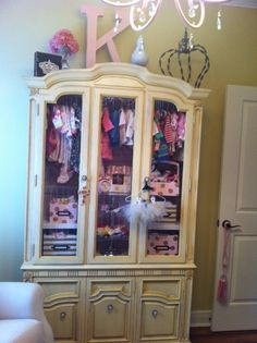 Grandmother's china cabinet re-purposed into a boutique style dresser