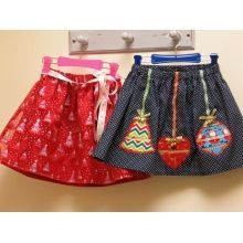 Free Pattern --- Christmas Glitter Skirt Pattern and Tutorial by Felicity Sewing Patterns