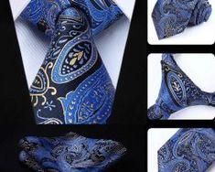 Luxusná kravatová sada - kravata a vreckovka so vzorom v modrej Tie, Accessories, Fashion, Moda, La Mode, Cravat Tie, Fasion, Ties, Fashion Models