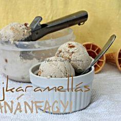 Tejkaramellás banánfagyi Hungarian Cake, Hungarian Recipes, Baking Ingredients, Cookie Dough, Ice Cream, Cookies, Food, Caramel, No Churn Ice Cream