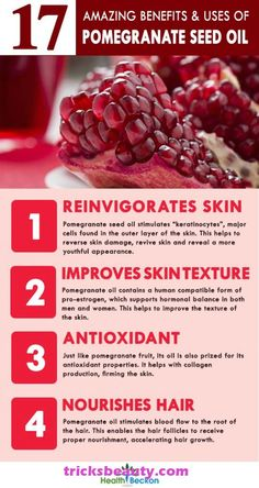 Pomegranate seed oil obtained by cold pressing of pomegranate fruit seeds is highly beneficial for medicinal & cosmetic purposes. Here are the benefits & used listed. Coconut Benefits, Calendula Benefits, Oil Benefits, Health Benefits, Fruit Benefits, Pomegranate Benefits, Pomegranate Seed Oil, Tomato Nutrition, Vegans