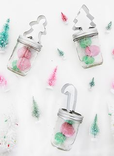 Put together these mason jar play dough party favors filled with homemade play dough to delight all the kids in your life this year.