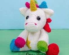Nuru the Unicorn Amigurumi - PDF Crochet Pattern - Instant Download - Amigurumi crochet Cuddy Stuff Plush