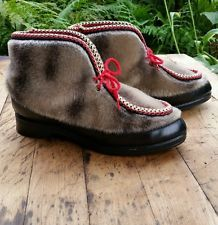 Fuzzy Furry Celanese Arnal Yodelers ski shoes comfortable faux fur ankle boots 7