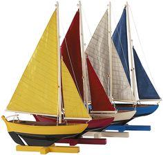 mini sailboats in color